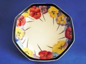 Royal Doulton 'Pansies' Series Large Octagon Bowl D4049 c1933 #1